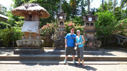 Us in front of the family's temple.  The condition of one's temple indicated the state of the family/home, so everywhere we went, these were immaculately presented.